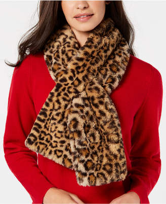 INC International Concepts I.N.C. Leopard Faux-Fur Stole, Created for Macy's