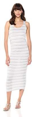 Michael Stars Women's Kali Stripe Racerback midi Dress