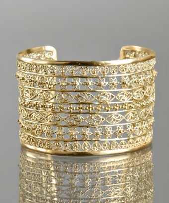 Isharya gold filigree linear cuff
