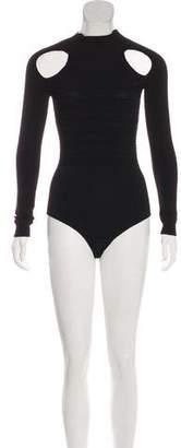 Cushnie et Ochs Knit Mock Neck Bodysuit