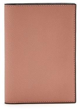 Valextra Grained Leather Passport Holder - Mens - Pink