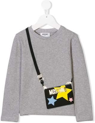 Moschino Kids bag print long sleeve top