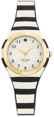 Kate Spade New York Women's Black Stripe Rumsey Watch $150 thestylecure.com