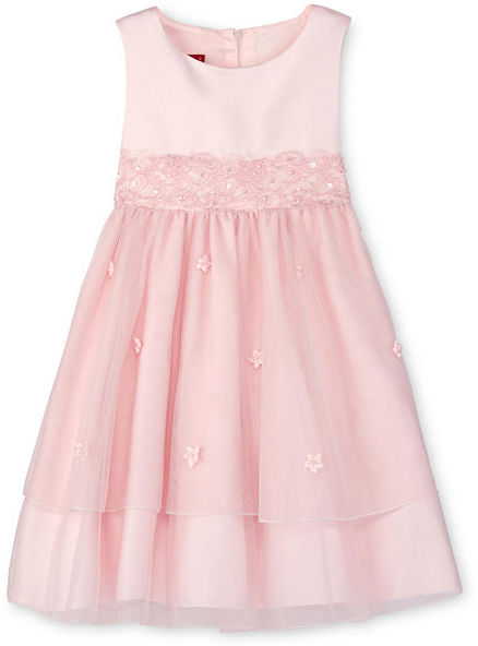 JCPenney Princess Faith White Embellished Tiered Flower Girl Dress - Girls 12m-6x