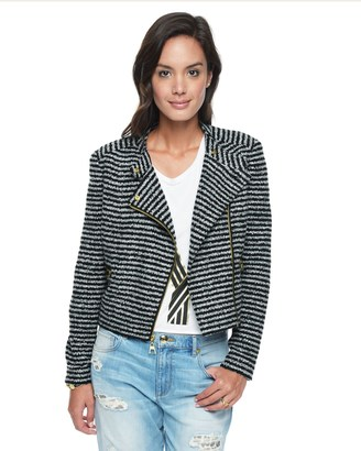 Stripe Boucle Jacket $268 thestylecure.com
