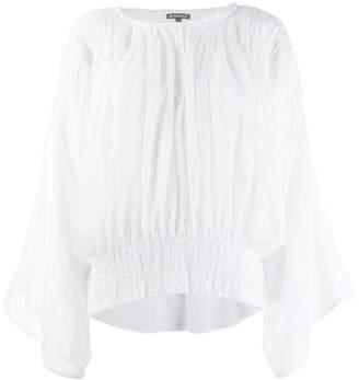 Ann Demeulemeester elasticated panel blouse