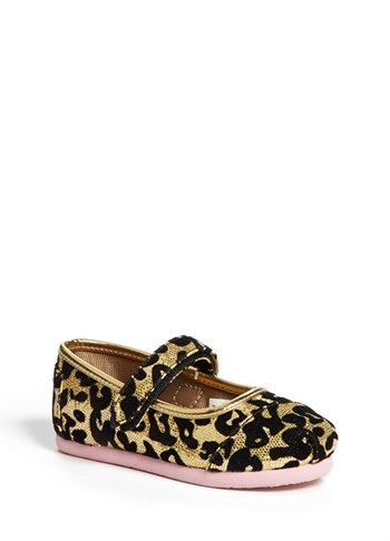 Toms 'Leopard Glitter - Tiny' Mary Jane (Baby, Walker & Toddler)