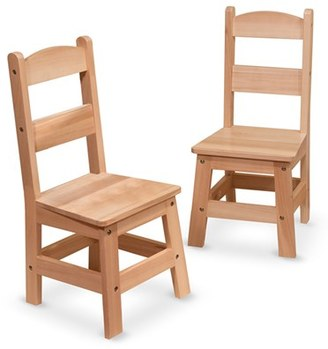 Toddler Melissa & Doug Wooden Chairs $69.99 thestylecure.com