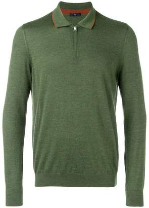 Larusmiani zip-up polo shirt