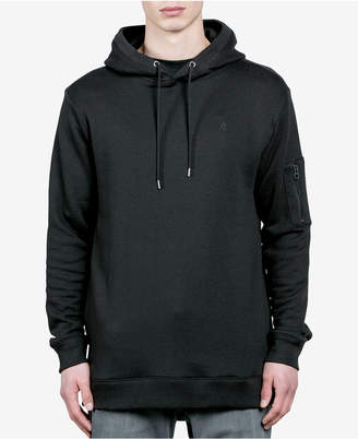 Volcom Men's Somewhere Embroidered-Logo Pullover Hoodie