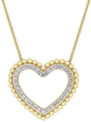 Diamond Select Cuts 14K 0.50 Ct. Tw. Diamond Open Heart Necklace
