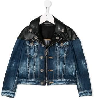 DSQUARED2 contrast panels denim jeans