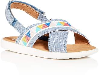 Toms Girls' Viv Chambray Crisscross Sandals