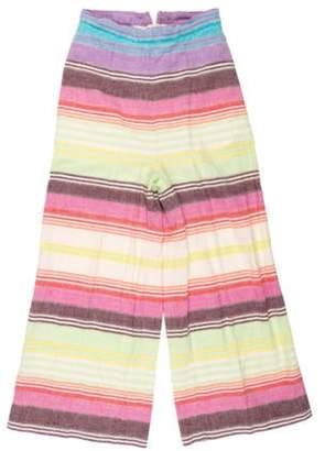 Mara Hoffman High-Rise Striped Pants lime High-Rise Striped Pants