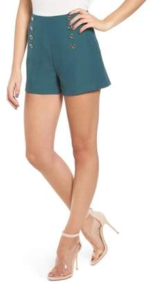 J.o.a. Button Detail High Waist Shorts