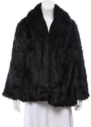 Alice + Olivia Faux Fur Open-Front Coat