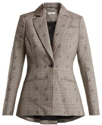 Altuzarra Acacia Prince Of Wales Checked Blazer - Womens - Grey Multi