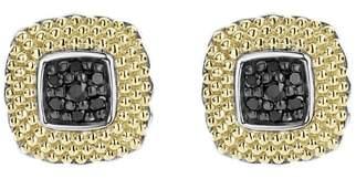 Lagos Diamond Lux Black Diamond Square Stud Earrings