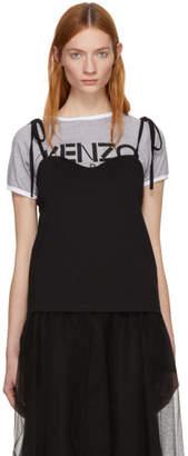Kenzo Black and Grey Layering Top T-Shirt