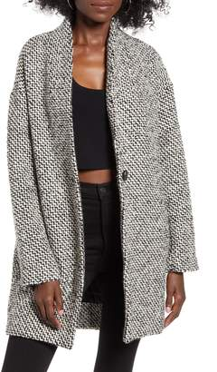 Blank NYC Blanknyc Say Anything Tweed Coat