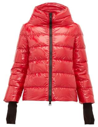 Herno Funnel Neck Quilted Shell Jacket - Womens - Red