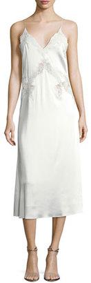Jonathan Simkhai Stretch-Lace Satin Slip Dress $695 thestylecure.com