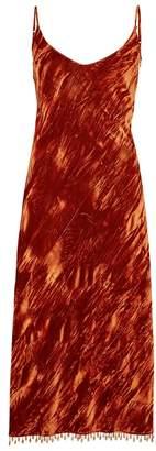 Collina Strada Barbarella Velvet Midi Dress