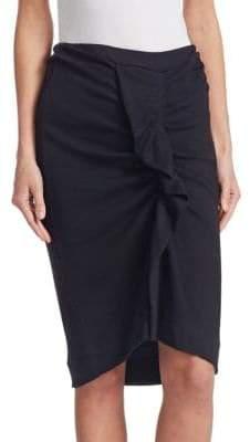 Etoile Isabel Marant Joca Wool Jersey Ruched Pencil Skirt