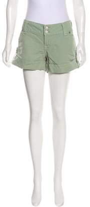 True Religion Cuffed Mini Shorts
