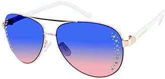 Southpole Women's 449sp-Rgdm Aviator Sunglasses