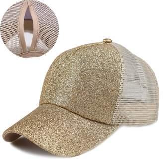 7570804170a07 Kekebag Ponytail Baseball Cap Adjustable Messy Buns Plain Trucker Hat