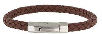 Canali Braided Leather Bracelet $65 thestylecure.com