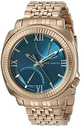 Vince Camuto Men's VC/1002SBRG The Veteran Multi-Function Dial Rose Gold-Tone Bracelet Watch