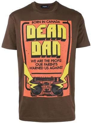 DSQUARED2 Dean and Dan print T-shirt