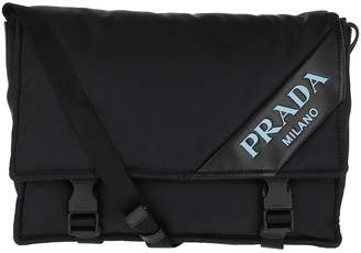 53b2430d04 Prada Logo Crossbody Bag Nylon Black