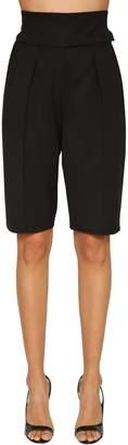 Alexandre Vauthier High Waist Wool Gabardine Shorts