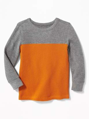 Old Navy Premium Color-Block Chunky Waffle-Knit Tee for Toddler Boys