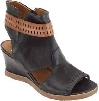 Miz Mooz Leather Cutout Wedge Sandals - Brianne