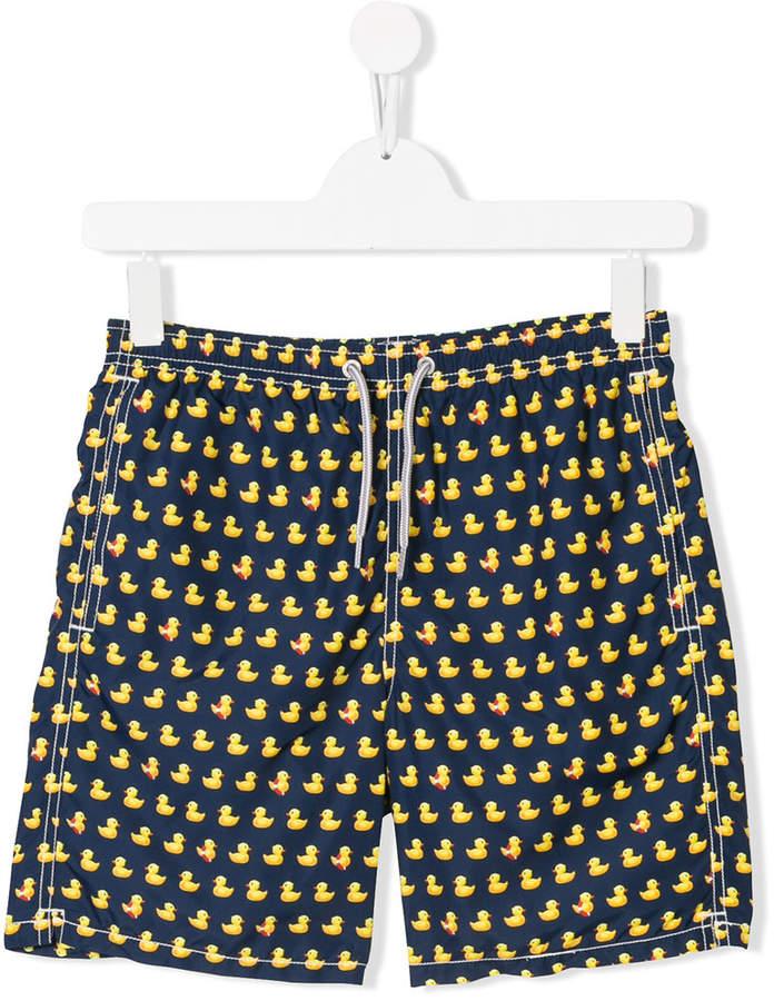Mc2 Saint Barth Kids TEEN duck print swimming shorts