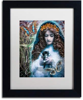 Color Bakery 'Art Nouveau Zodiac Virgo' Matted Framed Art