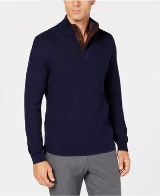 Tasso Elba Men Supima Mock-Neck Textured Sweater