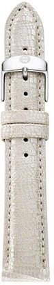Michele 16mm Metallic Saffiano Leather Strap