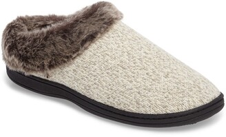 Acorn Chinchilla Faux Fur Slipper