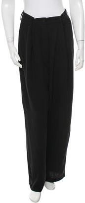 Jean Paul Gaultier Wide-Leg Virgin Wool-Blend Pants $110 thestylecure.com