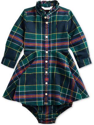 Polo Ralph Lauren Baby Girl Plaid Shirtdress & Bloomer