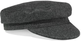 Étoile Isabel Marant - Evie Wool-blend Felt Hat - Charcoal $160 thestylecure.com