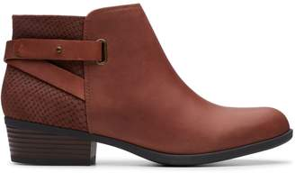 Clarks Addiy Leather Booties