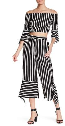 AFTER MARKET Flare Cuff Striped Pants