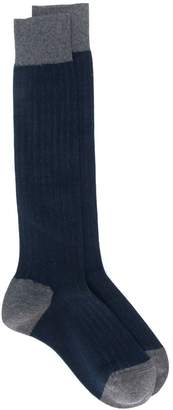 Altea ribbed knit colour block socks