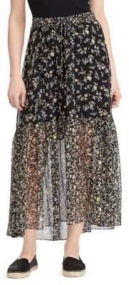 Lauren Ralph Lauren Petite Floral Georgette Skirt